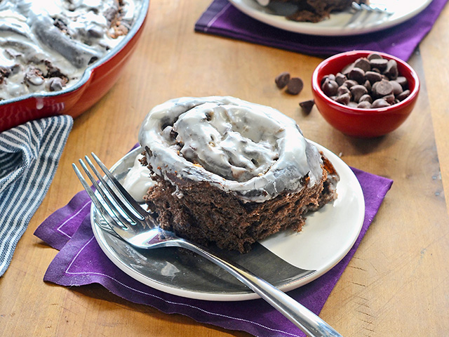 Decadence is the word with these double-chocolate breakfast rolls. Sweet, rich and chock-full of chocolate, these treats can be served for brunch or dessert. Chocolate slows the rising process, so don't worry if it takes a little longer for this dough to double in size.(DTN/Progressive Farmer image by Rachel Johnson)