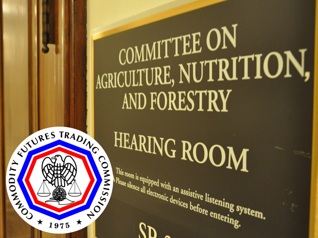 The Senate Agriculture Committee held a hearing Thursday with CFTC Chairman Chris Giancarlo. Among the topics was the EPA RIN market, but the CFTC finds EPA's data on the market too poor to draw good conclusions. (DTN photo by Chris Clayton; logo courtesy of the Commodity Futures Trading Commission)