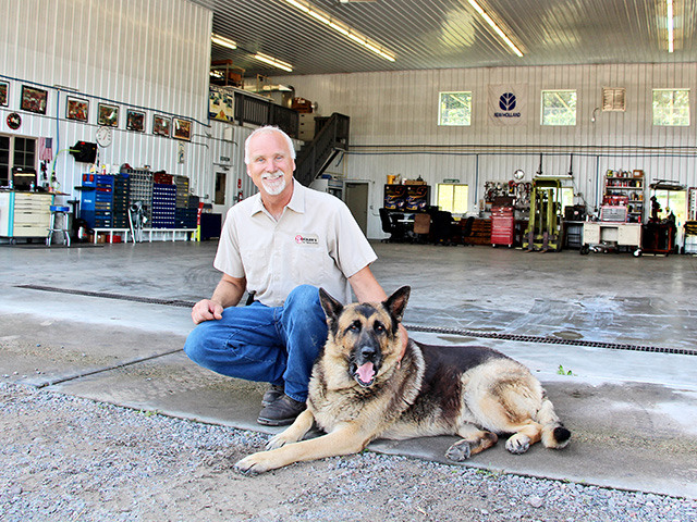 Jeff Tiemann's shop is three times the size of his old one and can accommodate larger equipment. (DTN/Progressive Farmer photo by Karen McMahon)