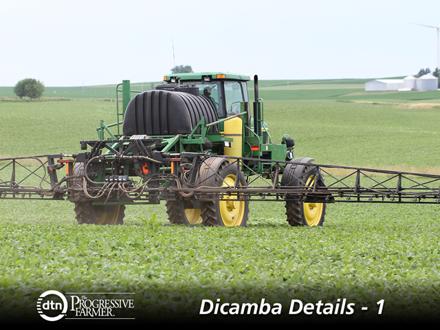 Spray applicators face a long list of restrictions if they plan to spray dicamba herbicide this spring. (DTN photo by Pamela Smith)