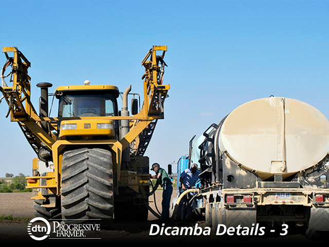 Growers and custom applicators who use dicamba will need to take extra effort to properly clean the sprayer and spray tank. (DTN photo by Gregg Hillyer)