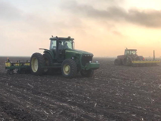 Southern U.S. growers like Brady Morgan of Elm Grove, Texas have made good progress in corn planting. Cold, rain, and snow have shackled Midwest efforts, however. (Photo courtesy of Brady Morgan)