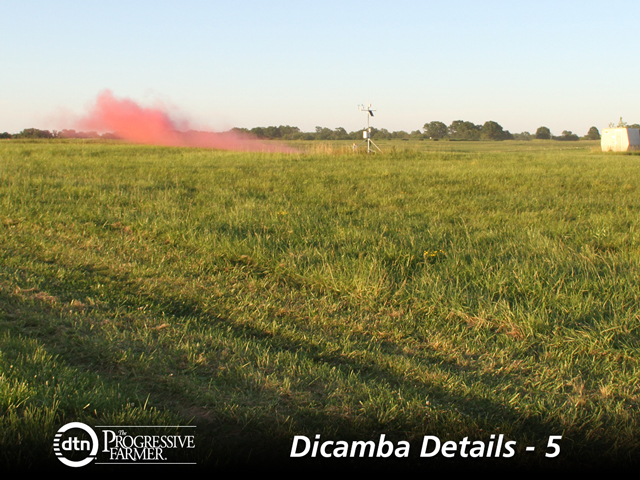 A smoke bomb set off by University of Missouri scientists in the summer of 2017 shows how particles get trapped near the ground during an inversion. (Photo courtesy of Mandy Bish)