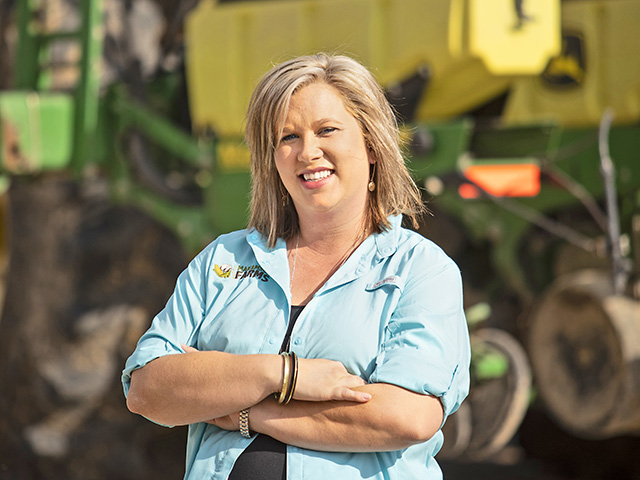 Farm life called, and Karen Edwards answered by switching careers and moving her family across the country to her parents farm in Mississippi. (Progressive Farmer photo by Debra Ferguson)