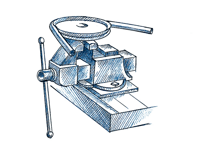 Tube-bending vise. (Progressive Farmer illustration by Ralph A. Mark Jr.)