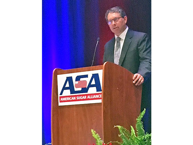 Gregg Doud, the chief U.S. agricultural trade negotiator, speaking Tuesday to members of the American Sugar Alliance annual conference.