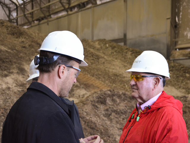 POET CEO Jeff Broin shows some elements of POET Biorefining - Chancellor in South Dakota to Agriculture Secretary Sonny Perdue (red jacket) early Thursday. Perdue held a roundtable at the ethanol plant that largely focused on E15. (DTN photo by Chris Clayton)