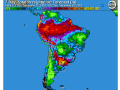 Primary southern Brazil and Argentina crop areas have moderate to heavy rain returning to the scene over the next week. (DTN graphic)