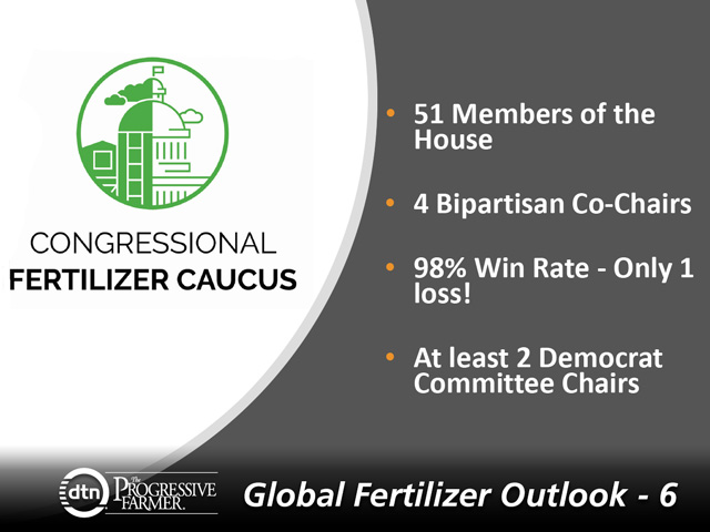 The Congressional Fertilizer Caucus is a group of U.S. House of Representatives members with a deeper understanding of the issues facing the fertilizer industry. (Graphic courtesy of Clark Mica, The Fertilizer Institute)