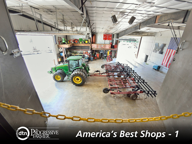 Scott Rasa's farm shop in Higginsville, Missouri, is built for the future but also is a testament to the generational lessons Rasa learned from both his grandfathers and his father. (DTN/Progressive Farmer photo by Jim Patrico)
