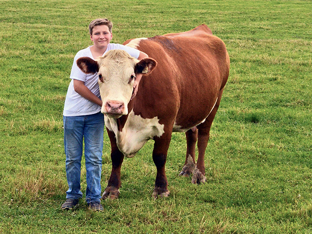 Russ Woolfolk is the sixth generation to be involved in the Tennessee family's Hereford operation.(Progressive Farmer photo by Victoria G. Myers)