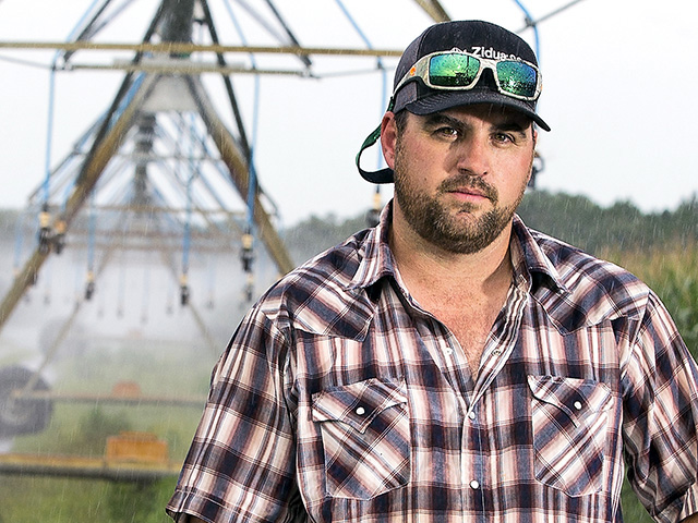 B.J. Wilkerson said variable-frequency drives save water and have reduced his irrigation costs by $8 to $12 per acre. (Progressive Farmer photo by Mark Wallheiser)
