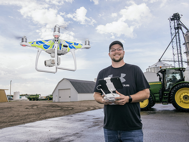 Ryan Johnson has led the way in bringing technology onto his family's 10,000-acre North Dakota farm. (Progressive Farmer photo by Joel Reichenberger)