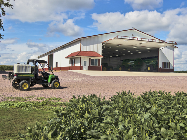 It is as important to consider space available around your new shop as it is to build a shop that will fit today's needs and your needs 10 years into the future. (DTN/The Progressive Farmer photo by Morton Buildings)