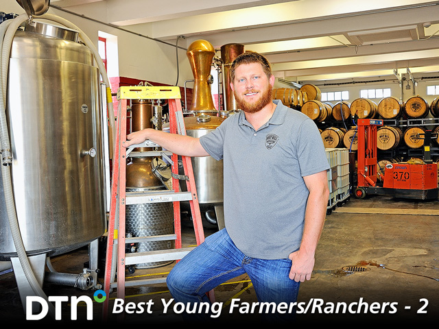 Hayes Kelman is the proprietor of Boot Hill Distillery in Dodge City, Kansas. (DTN/The Progressive Farmer photo by Jim Patrico)