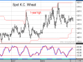 Winter wheat prices have protected much of their 2018 gains so far, but last week's lower close in the March Kansas City contract looks like a bearish change of momentum. (DTN ProphetX chart)