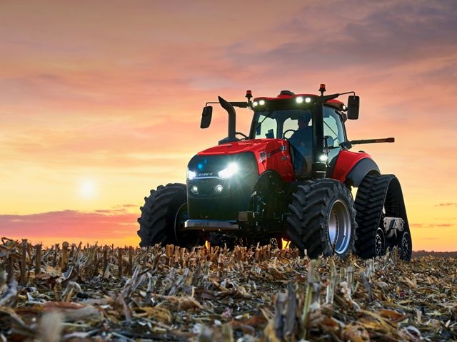 Case-IH revealed its new model-year 2020 AFS Connect Magnum at the National Farm Machinery Show in Louisville, Kentucky, Tuesday evening. (Photo courtesy of Case-IH)