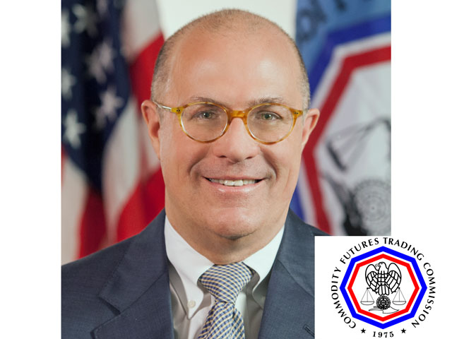 Chris Giancarlo, chairman of the CFTC, talked about the value of U.S. trading markets to farmers and the advantage that gives the U.S. over other markets. (Photo and logo courtesy of the CFTC)