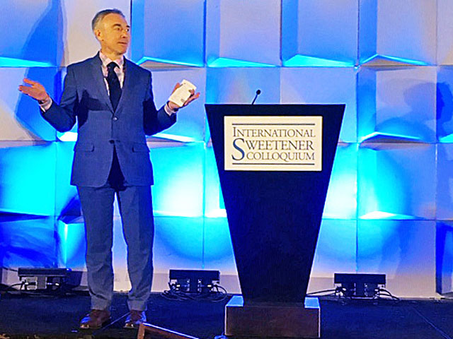USDA Deputy Secretary Steve Censky delivers the keynote address Monday morning at the International Sweetener Colloquium in Aventura, Florida, north of Miami Beach. (DTN photo by Jerry Hagstrom)