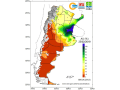 Most crop areas of Argentina have either adequate or surplus soil moisture going into the last of February. (Argentinal National Meteorological Center graphic)
