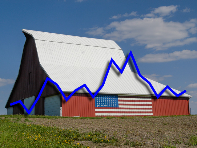 Farm Service Agency, which used to be considered the lender of last resort, has seen its rate of delinquent borrowers rise from 16.97% in 2013 (the height of farm income) to 19.41% now. (DTN/Progressive Farmer photo by Gregg Hillyer; DTN photo illustration by Nick Scalise)