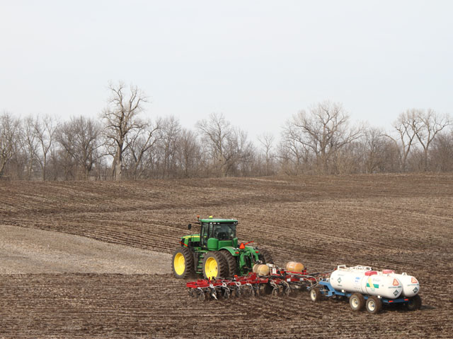 There are steps you can take to avoid injuring corn seeds and young plants following anhydrous ammonia applications. (DTN photo by Pamela Smith)