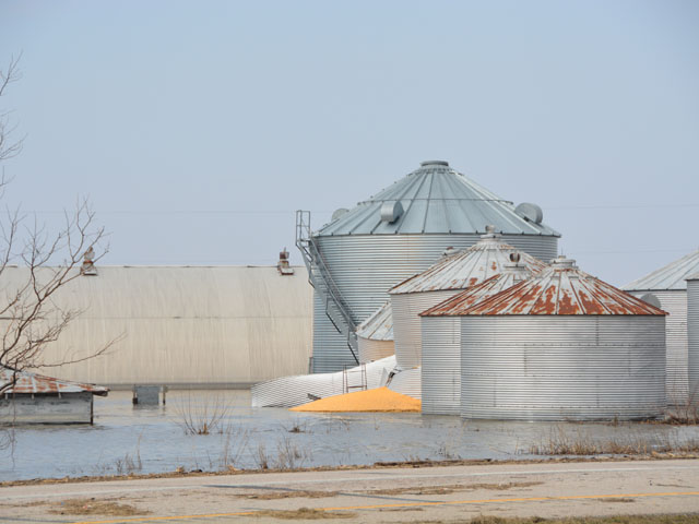 Midwest farmers are dealing with grain bin losses and hoping Congress can provide funding for those losses. The chairman of the House Agriculture Committee said more pressing disaster aid is needed for Southern farmers who lost crops last summer during hurricane season. (DTN photo by Chris Clayton)