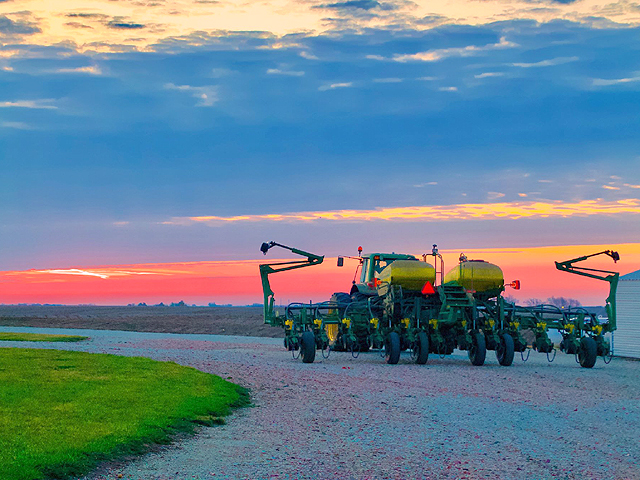 On Earth Day, April 22, 2018 the snow had melted and the ground was finally perfect for planting corn for the Haag family in rural Orient, Iowa. This photo was submitted to the DTN/Progressive Farmer's #MyPlanting18 photo contest by Gingi Haag and ended up winning the Editor's Pick award. (Gingi Haag photo)