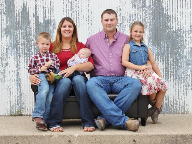 Ashley and Jarett Andersen and their children, Haley, Eli and Kasey, will be reporting from Blair, Nebraska, throughout the 2019 growing season. (Photo courtesy of the Andersen family)