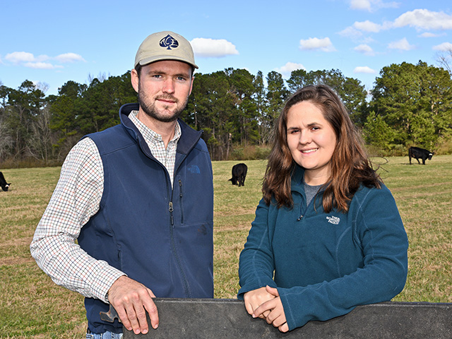 Chandler and Callie Akins are market-savvy producers working to increase sales opportunities with a timely choice.(Progressive Farmer photo by Becky Mills)