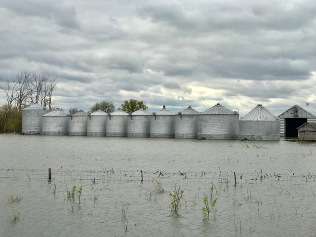 Grains caught in the 2019 flooding in early spring will be eligible for payments under disaster details released Monday by USDA. Farmers who were hit by disasters in 2019 will only receive 50% of their initial damages while USDA monitors available funds. (DTN file photo)