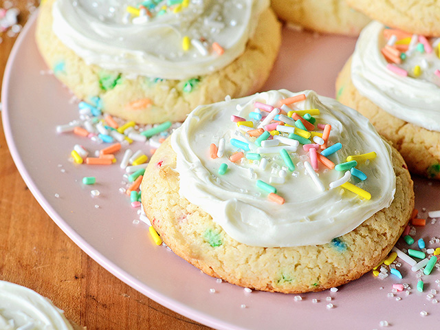 Birthday Cake Cookies, Image by Rachel Johnson