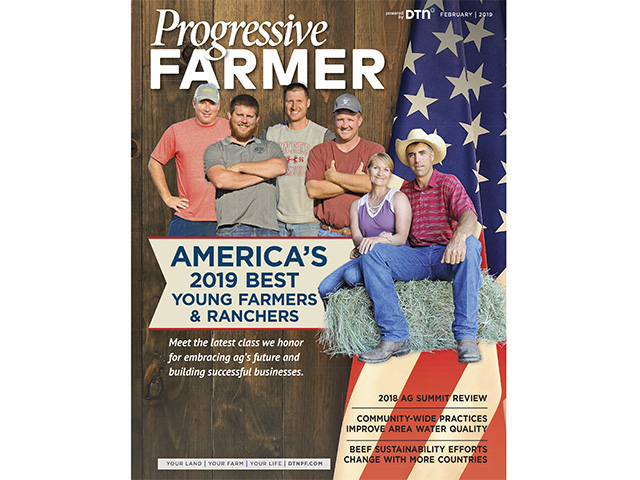 America's Best Young Farmers and Ranchers are featured on the cover of The Progressive Farmer magazine, Image by The Progressive Farmer magazine