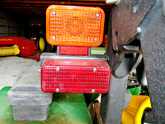 Tractor rear lights, Image by Steve Thompson