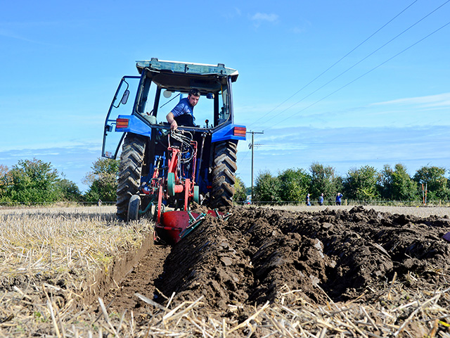 William Hall competes in his local County Sligo, Ireland, events to qualify for the National Ploughing Championships, where he came in fifth in his class, Image by Greg Lamp