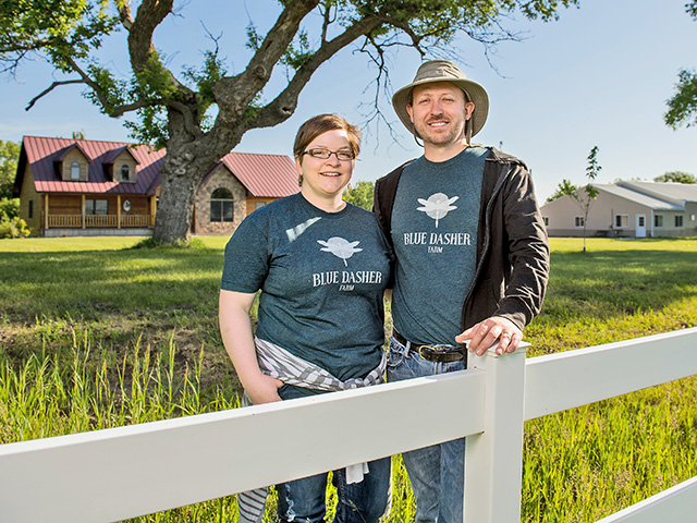 Jonathan and Jenna Lundgren used social media to raise money for a working research farm that is independent of the influence of ag businesses, Image by Greg Latza
