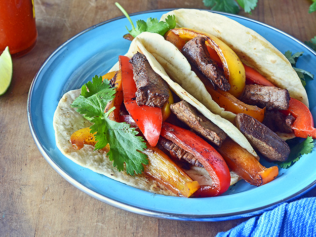 Steak and Pepper Fajitas, Image by Rachel Johnson