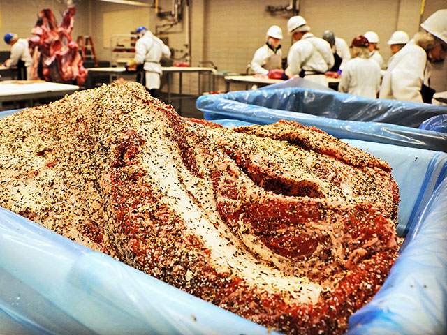 The beef brisket continues to grow in  popularity, driving prices up despite an increased meat production. (Photo by Jeff Savell)