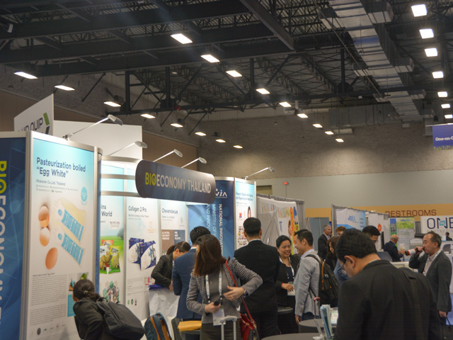 Thailand, the Netherlands and Canada were among the countries with booths at the BIO World Congress in Des Moines, Iowa, this week, which is focused around various aspects of the bioeconomy around food and biofuels. (DTN photo by Chris Clayton)