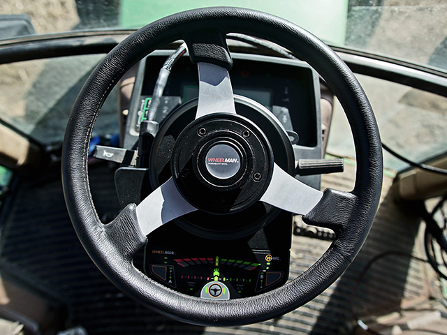 The Wheelman Pro replaces a machine's steering wheel and can be ready in an hour, Image provided by the manufacturer