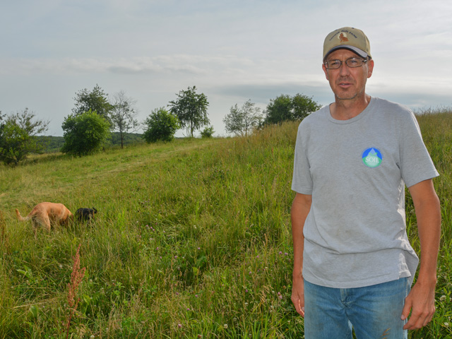 Matt Russell, a south-central Iowa farmer and executive director of the Iowa chapter of Interfaith Power and Light organization, has been inviting Democratic presidential candidates to his farm to talk about the benefits carbon sequestration provides for addressing climate mitigation.
