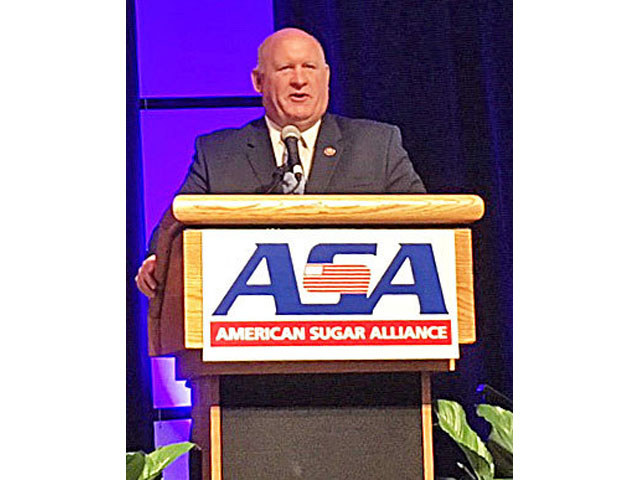 Rep. Glenn Thompson, R-Pa., is seeking to take Rep. Michael Conaway's spot as the top-ranking Republican on the House Agriculture Committee. He spoke on Monday to the American Sugar Alliance. (DTN photo by Jerry Hagstrom)
