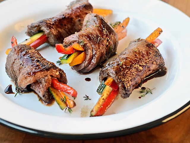 Balsamic Steak Rolls (Progressive Farmer image by Rachel Johnson)
