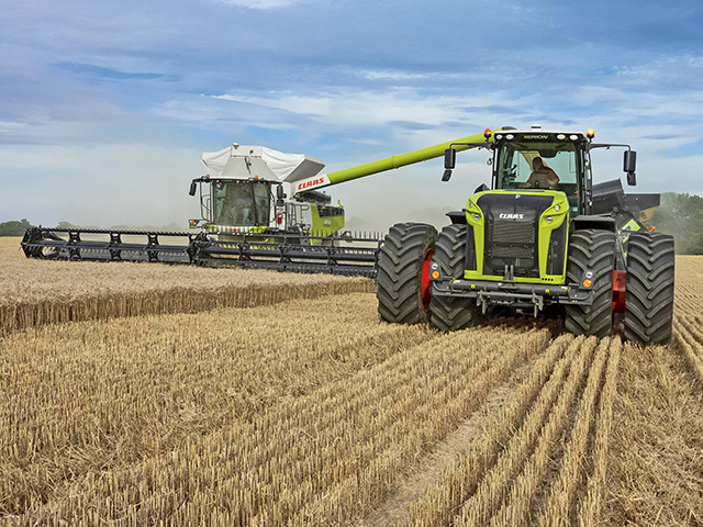 The Lexion and the Xerion by CLAAS (Progressive Farmer image provided by CLAAS)