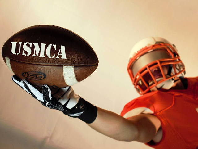 As fall football season ramps up, supporters of the USMCA are determined to get the trade deal across the goal line before presidential politics potentially blocks ratification of the trade pact in 2020. (DTN image courtesy of goodfreephotos.com)