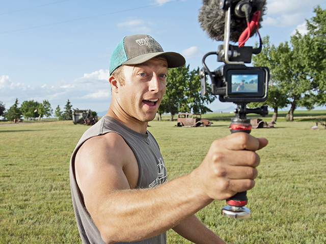 Nick Welker has helped his family's YouTube channel grow to 230,000 subscribers. (Progressive Farmer photo by Joel Reichenberger)