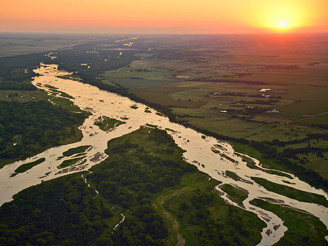 The Platte River is wide and shallow. The Valley it created is a natural highway. (DTN/Progressive Farmer photo by Jim Patrico)