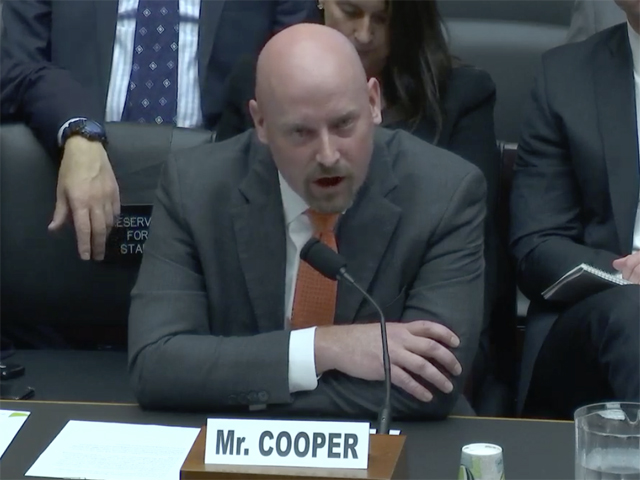 Renewable Fuels Association President and Chief Executive Officer Geoff Cooper testifies before a U.S. House of Representatives committee hearing on small-refinery exemptions. (Screenshot of House committee website)