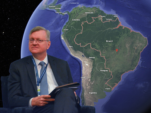 Nestor Forster Jr., Brazil's Charge of Affairs in Washington, D.C., or top diplomat, was among speakers at a conference Wednesday who defended the country's environmental policies and criticized those who raised concerns about fires and deforestation of the Amazon rainforest. (DTN photo by Chris Clayton and image by Nick Scalise)