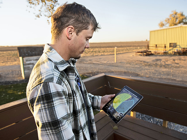 Brett Arnusch's job is to make legible the data collected on his Colorado family farm. (Progressive Farmer image by Joel Reichenberger)